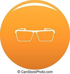 Square lens icon vector orange