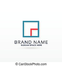 square logo design concept template