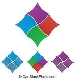 Square logo symbol design set