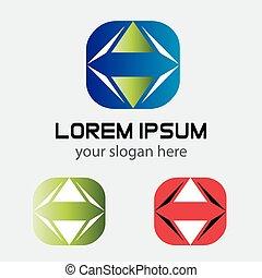 Square logo template design