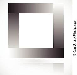 Square made of overlapping rectangles. Vector art.