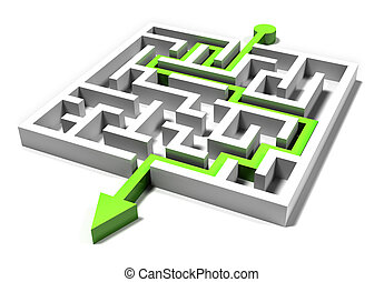 square maze exit with the path - square maze exit with the...