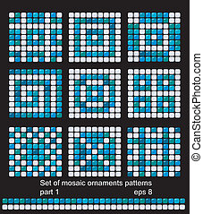 square mosaic pattern backgrounds
