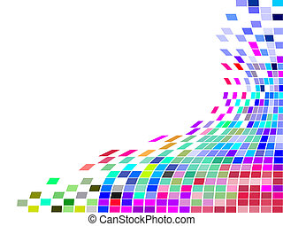 square mosaic - vector illustration of colorful squares on...