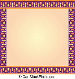 Square Multi Color Decorative Border Template - Decorative...