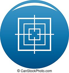 Square objective icon blue vector