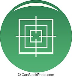 Square objective icon vector green