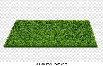 Square Of Green Grass Field Transparent Background