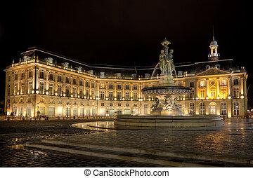 Square of the Bourse, Bordeaux, Aquitaine, France