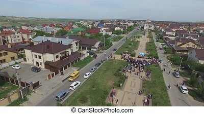 Square of the city of Stavropol. Russia - General panorama...