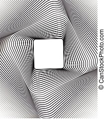 square optical art background black and white