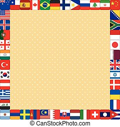 background with flags frame