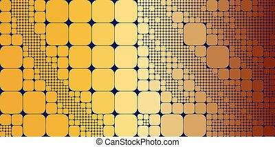 Square orange red geometrical abstract background