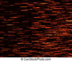 Square orange vivid 8-bit pixel dot interlaced space stars...