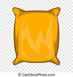 Square packing icon, cartoon style