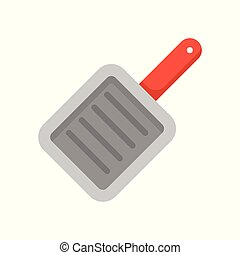 square pan icon, flat design isolated vector