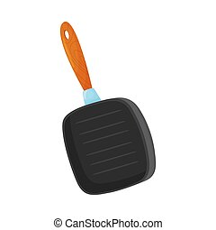Square pan. Vector illustration on a white background.