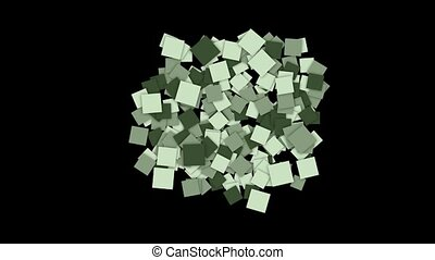 square paper cards and mosaics wallpaper.