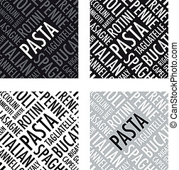 pasta background set