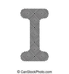 Square pattern alphabet I