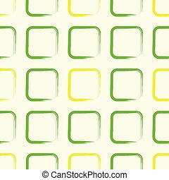 Square pattern retro green yellow