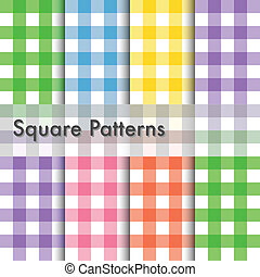 Square patterns illustration