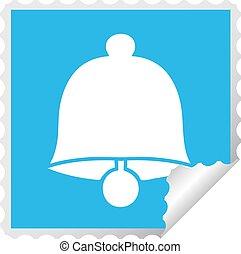 square peeling sticker cartoon brass bell
