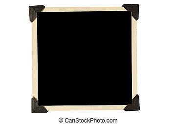 Square Photo Frame Black Corners