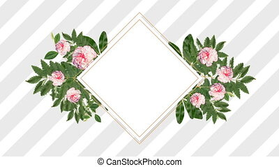 photo frame for copy space with decorative pink flowers -...