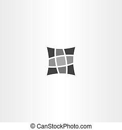 square pillow vector icon design