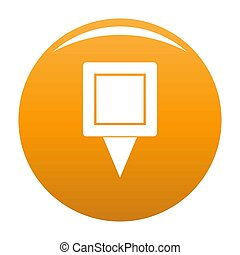 Square pin icon orange