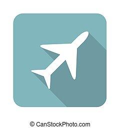 Square plane icon