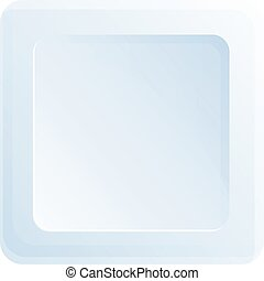 Square plate icon, cartoon style