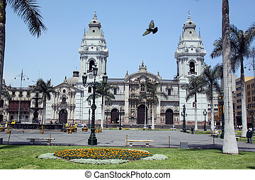 Plaza-de-Armas - Square Plaza-de-Armas in the cener of Lima,...