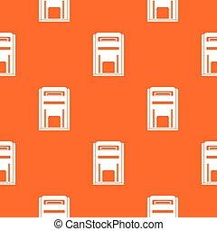 Square post box pattern seamless