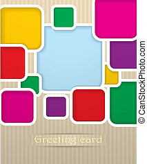 Square postcard vector illustration
