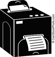 Square printer icon, simple style