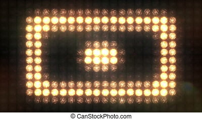 Square Pulse flashing light wall - A large wall of light...