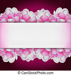 purple background with pink magnol