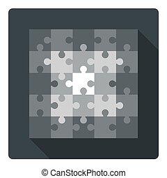 Square puzzle - 25 parts