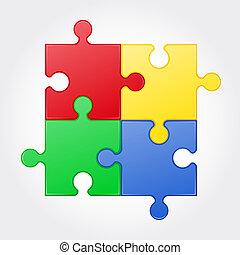 square puzzle illustration