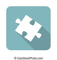 Square puzzle piece icon