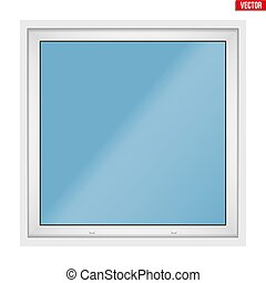 Square PVC window with one sash - Square Metal plastic PVC...