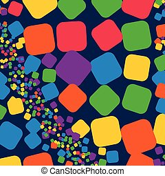 Square rainbow colorful geometrical abstract background for use in design