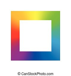 Square Rainbow Gradient Color