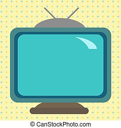 Square rectangle old multicoloured painting television picture wood design Design business concept Empty copy space modern abstract background