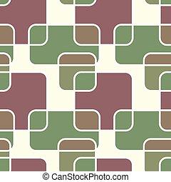 square retro pattern vector illustration