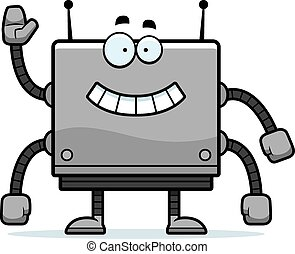 Square Robot Waving