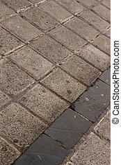 square rock pavement detail background