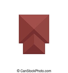 Square roof. View from above. Vector illustration.